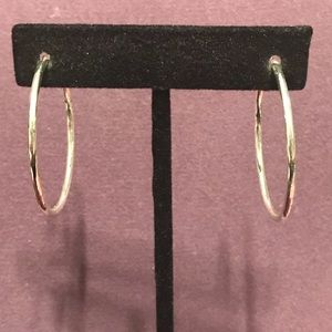 Diamond cut hoop earrings.  3/$12 Sale